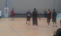 Entrainement de l'équipe de France de Basket à Calais