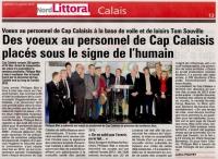 Voeux 2013 aux personnels de Cap Calaisis