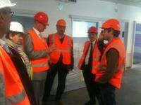 visite de chantier du futur hôpital de calais