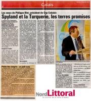 Voeux 2013 du Président dela communauté d'agglomération Cap Calaisis