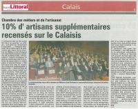 10% d'artisans supplémentaires sur le Calaisis