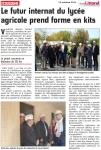 Visite de chantier du futur internat du Lycée Horticole de Coulogne