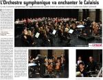 L'Orchestre symphonique va enchanter le Calaisis