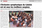 L'Orchestre symphonique du Calaisis est né sous les meilleurs auspices
