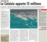 CALAIS PORT 2015 : Le Calaisis apporte 12 millions