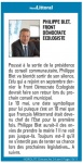 Philippe Blet, Front democrate