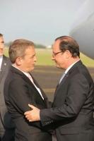 Accueil du Président de la République, François Hollande par Philippe Blet
